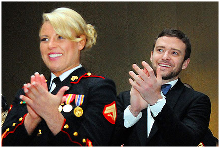 Justin Timberlake Attends Marine Corps Ball
